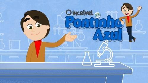 Pontinho Azul um canal de animação no Youtube que ensina ciências para crianças.