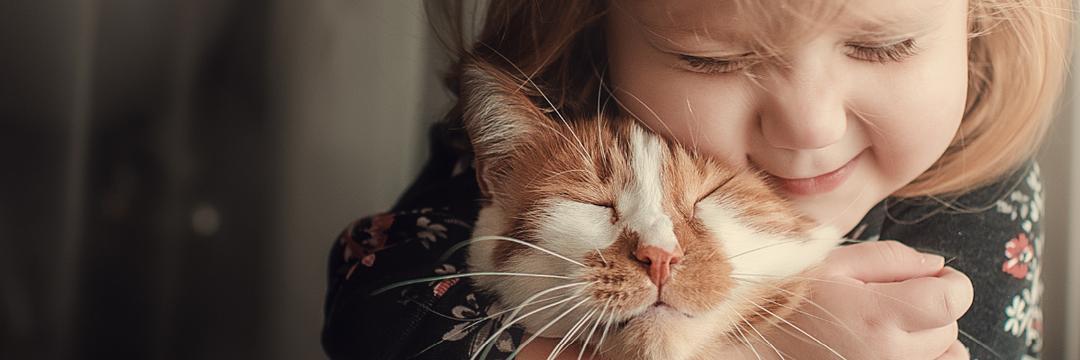 Animais de estimação e os benefícios no desenvolvimento da criança