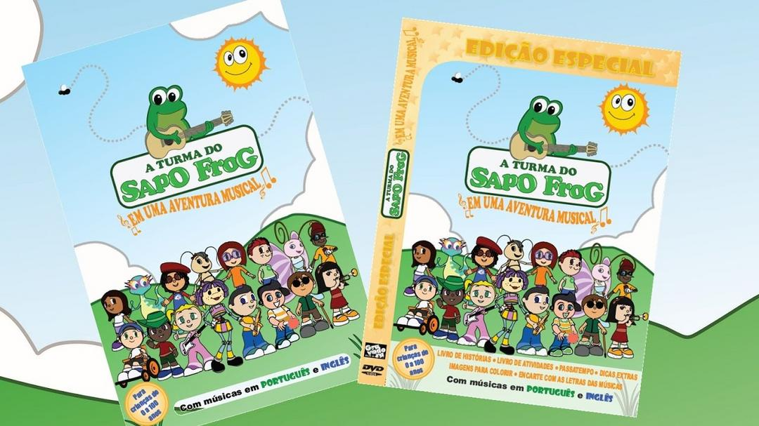 DVD A Turma do Sapo Frog