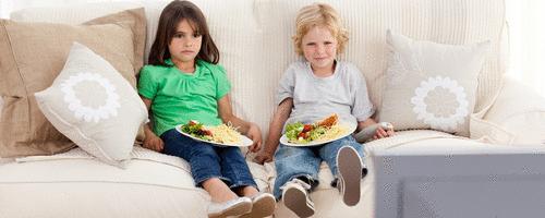 Alimentação não combina com televisão